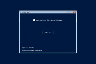 Windows Server 2016 TP5英文版初体验